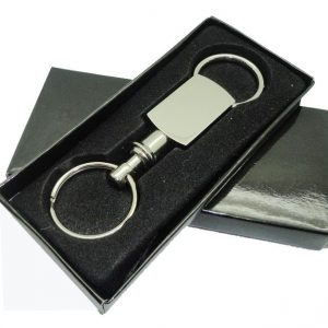 Double Sided Open Metal Keychain