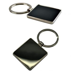 Double Sided Square Keychain