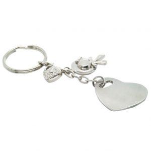 Metal Heart Shaped Keychain