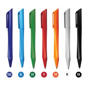 Promotional Plastic Pens Twisted Design