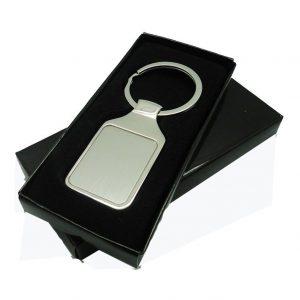 Rectangle metal keychain