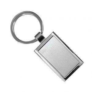 Rectangular Double Sided Keychain